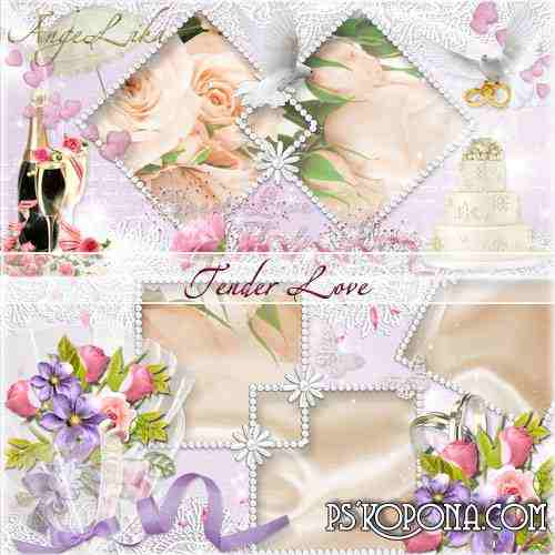 Wedding Photobook template psd - Tender Love