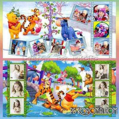 Baby colorful photobook with the heroes of m/f Winnie the Pooh and his friends