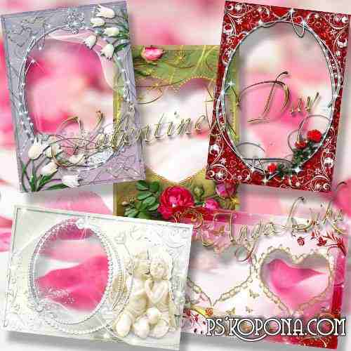 Collection Photoframes for Lovers - On Valentine's Day