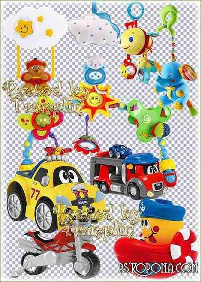 Children png clipart on a transparent background -  Children toys png, rattles png images