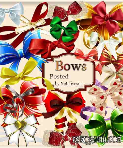 Clipart in PNG - Bows