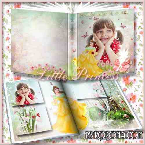 Photobook template psd for Girls - Little Princess