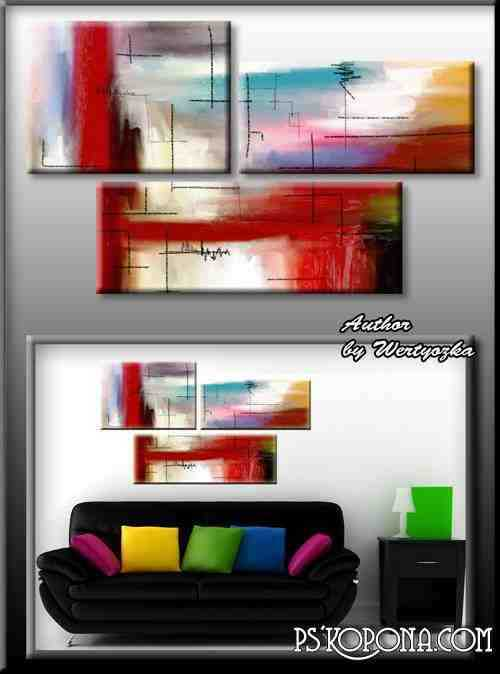 Psd source triptych - Abstract