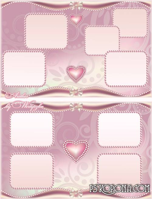 Photobook template psd for Weddings and romantic pictures - Open your heart