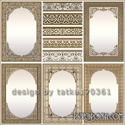 Multilayer patterned gold frame design for women photos