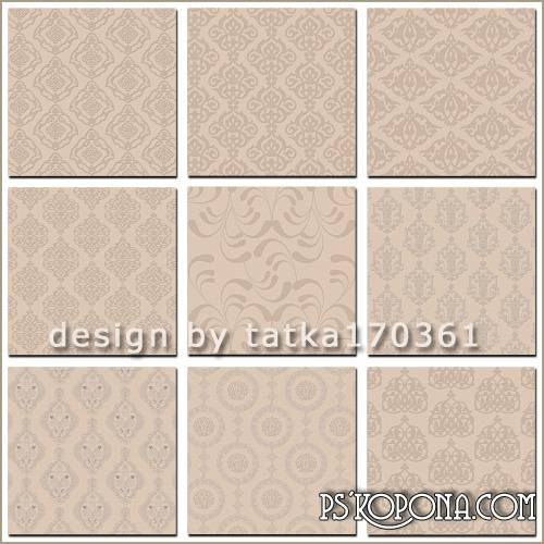 Textures for Photoshop - Beige damask pattern