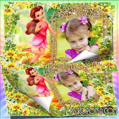 Baby photo frame for the girl with the heroine m/f Fairy
