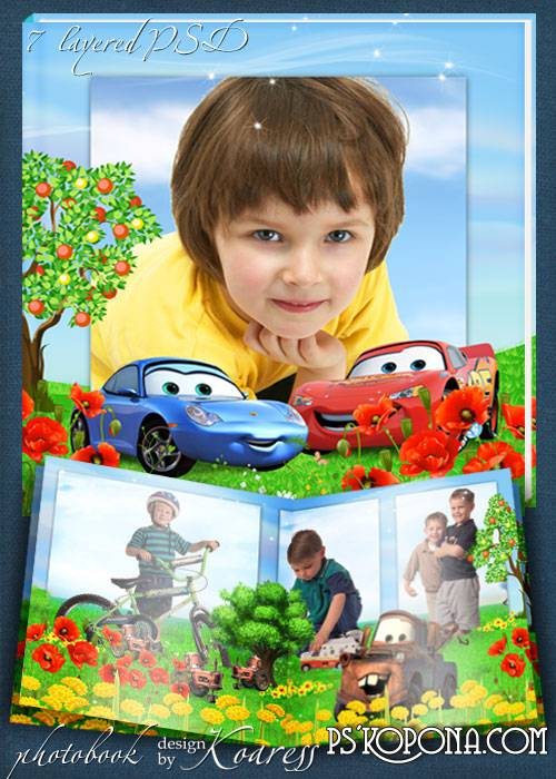 Children photoalbum with cartoon characters - Cars- Summer in Radiator Springs