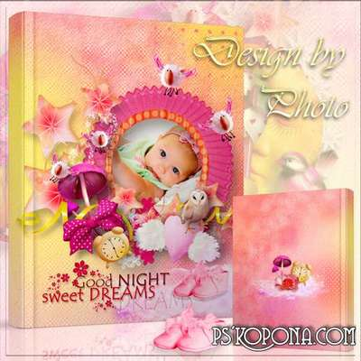 Baby photobook template psd - Goodnight girl