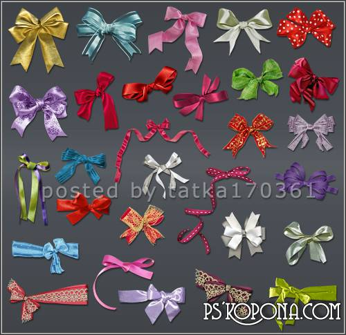 Clipart for Photoshop - Ribbons and bows