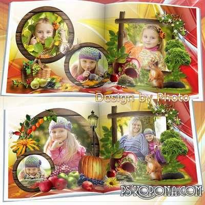 Photobook template psd - Autumn melody