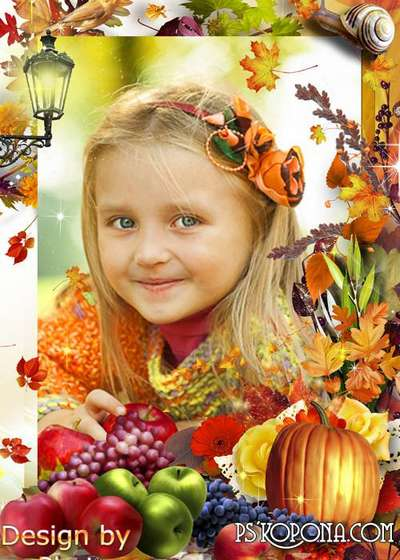 Photo Frame psd - Hello autumn download