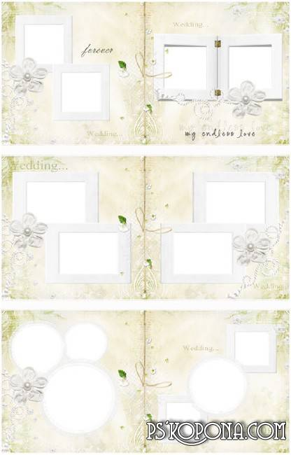 Wedding photobook template psd - Tender Feelings