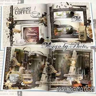 photo book template psd Is the Coffee pleasure