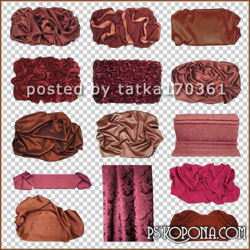 Clipart for Photoshop - Fabric red-brown color