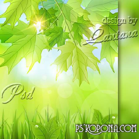 PSD source - Spring, young leaf greens