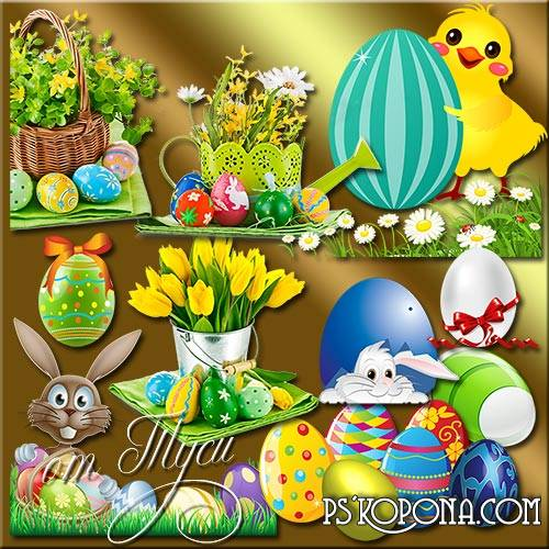 Free psd Clipart Easter - Easter feast download