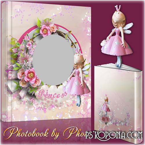 Photo album template psd for girls - My little Princess