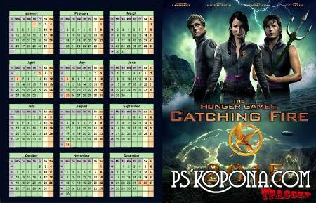 Calendar 2015 – The Hunger Games: Catching Fire