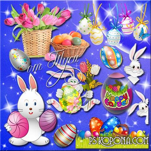 Free psd Clipart Easter - Let it be the soul of our light