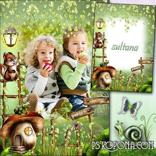 Children frame for photo free download - In the fairy forest