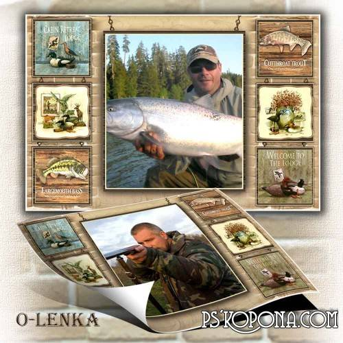 Photo frame for men - Hunter and Fisher