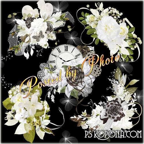 Clipart on a transparent background - Floral arrangements