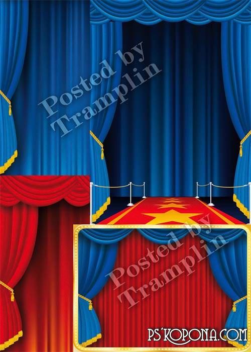 Free Clipart PSD for Photoshop Scenes, a curtain 4 Psd free download