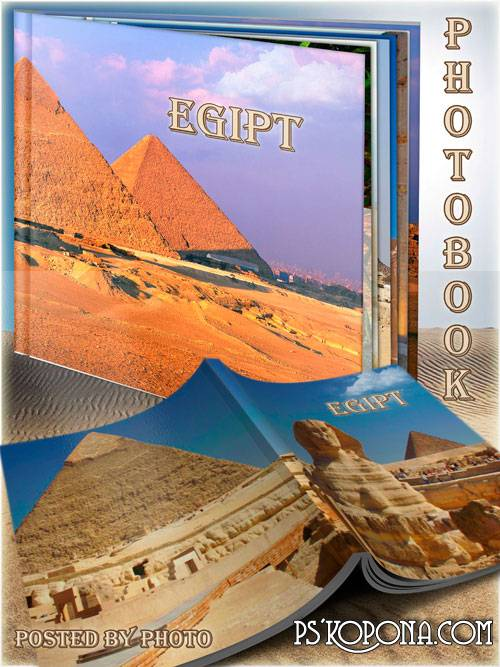 Photobook template psd - Travel to Egypt