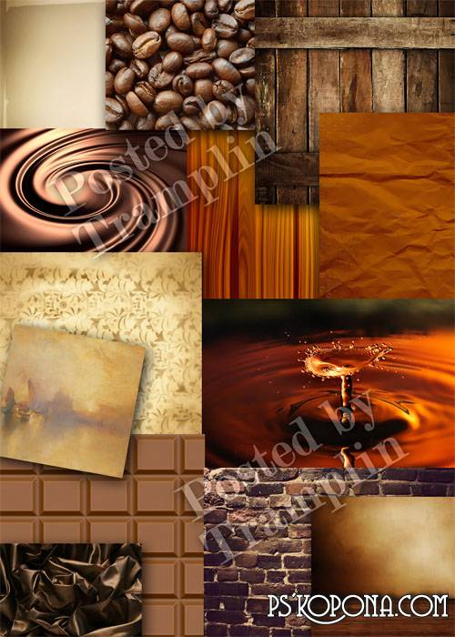 Brown color backgrounds – Chocolate, coffee, wooden, vintage, paper