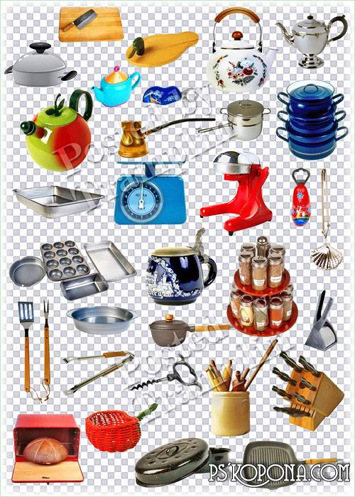 Kitchen ware on a transparent background download - free 76 png images