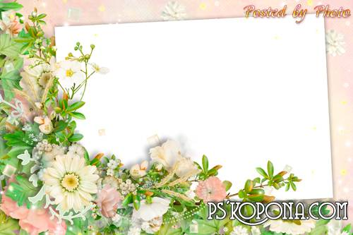Flower photo frame - Bliss