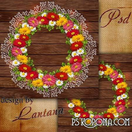 PSD source - Wreath in lace