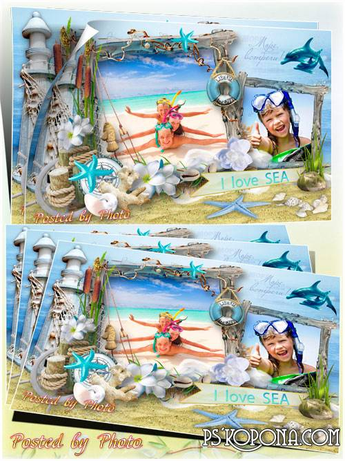 Photo frame - Sea worries, attracts