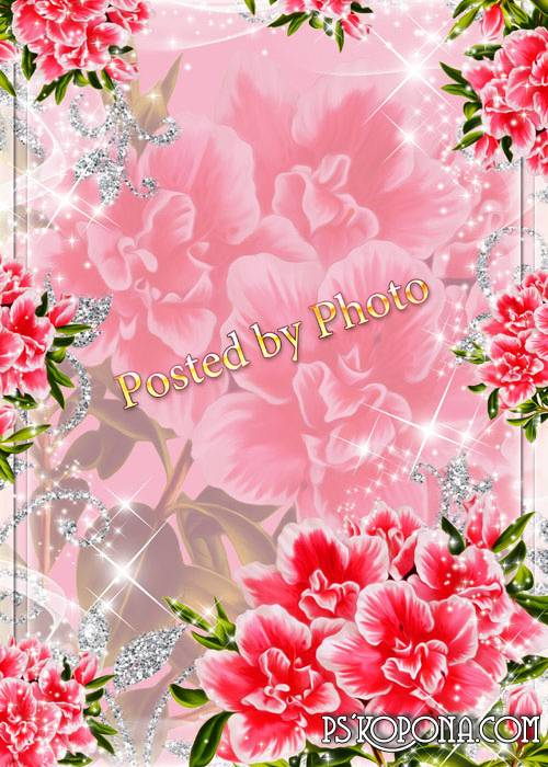 Flower photo frame - Delightful fragrance