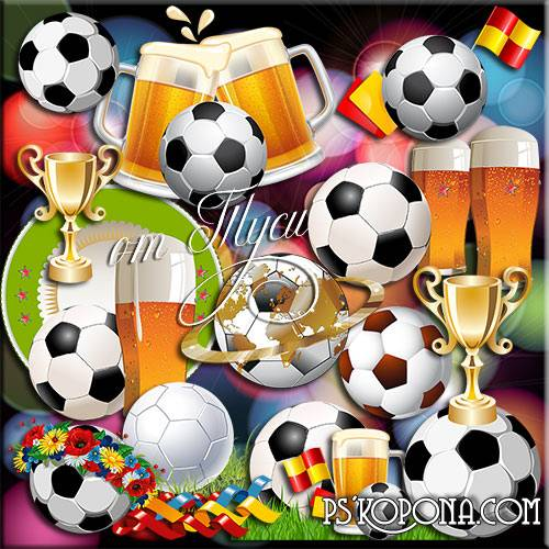 Clipart - In the world many people love football