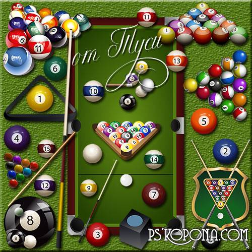 Clipart - Billiards - addicting game