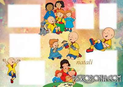 baby picture frame - Caillou