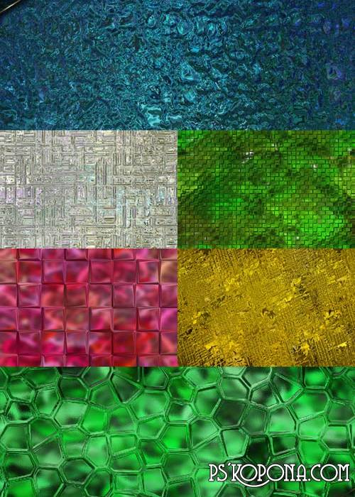 6 textures for the design of colored glass