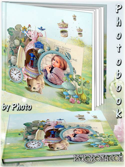 Baby photo book template psd - Fairy-tale world