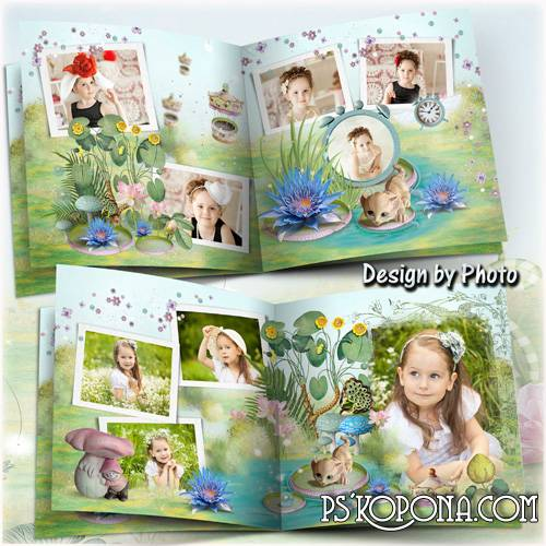 Baby photo book template psd - Fairy-tale world
