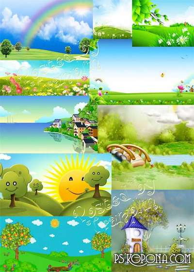 Summer children backgrounds