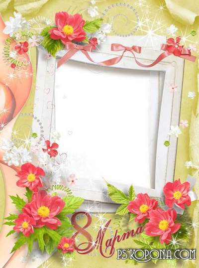 Frame for Photoshop - Delicate spring