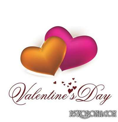 Raster Graphics on white background Valentine's Day