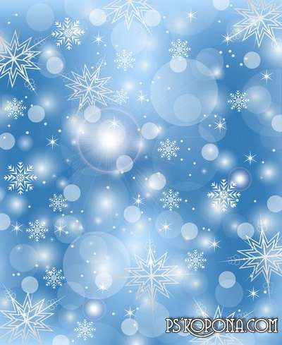 Multilayer backgrounds for Photoshop - Flying and whirling snowflakes