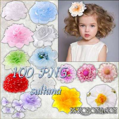 Clipart bows 100 PNG  for hair girls on a transparent background