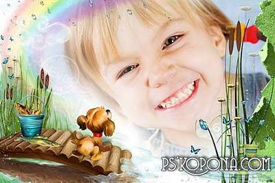 Childs PSD and PNG photo frame – Your cheerful childhood