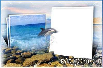 Frame for photoshop - Bottomless Sea, gently alluring