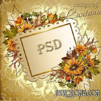 PSD source - Autumn bouquet, as a farewell to summer