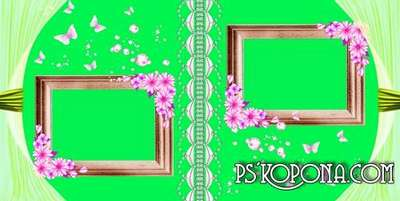 Photo album template psd universal- Flower Paradise